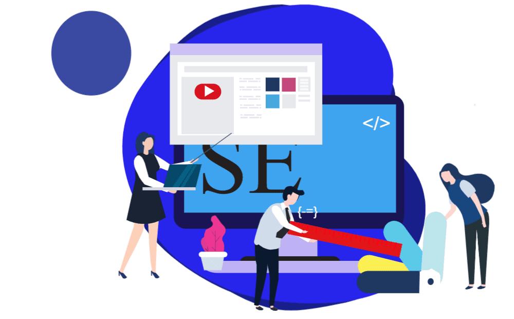 SEO website design scene
